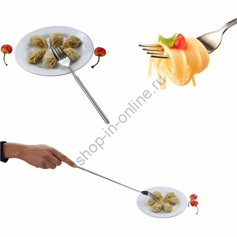 Вилка с телескопической ручкой для барбекю Fruit Cocktail Forks